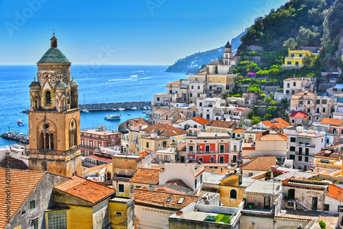 Canvas Print Amalfi in the province of Salerno, Campania, Italy