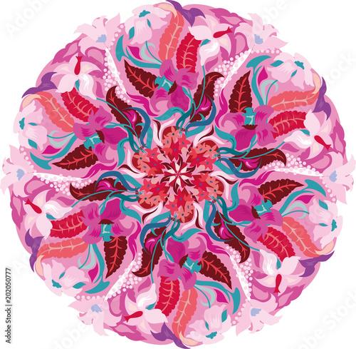 Fotografie, Obraz Floral mandala pattern