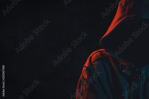 Wallpaper Mural Criminal person with hoodie