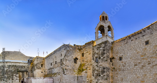 Fotografia Panorama of the Church of the Nativity is a basilica located in Bethlehem