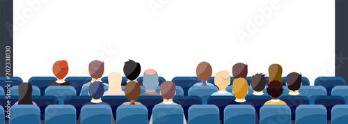 Fotografering People Sit Cinema Hall