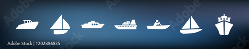 Fotografia Symbol-Set - Boote