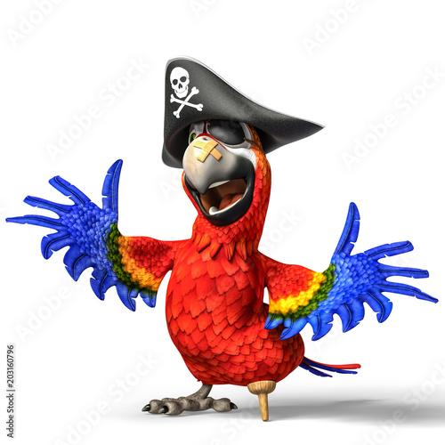 Fotografia pirate parrot cartoon