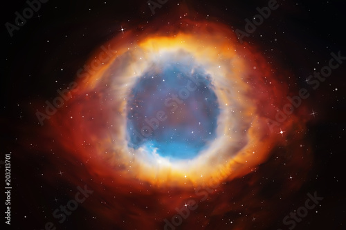 Vector illustration with Helix Nebula Fototapeta
