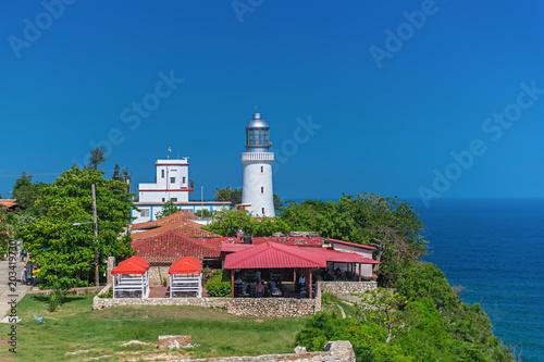 Canvas Print El Morro lighthouse near Santiago de Cuba