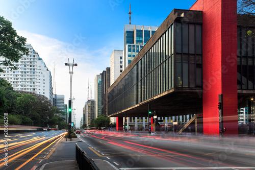 Tela Paulista Avenue in Sao Paulo - Brazil