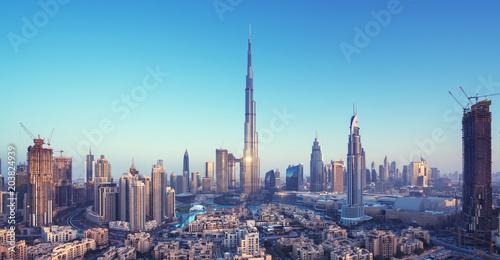 Tableau sur Toile Dubai skyline, United Arab Emirates