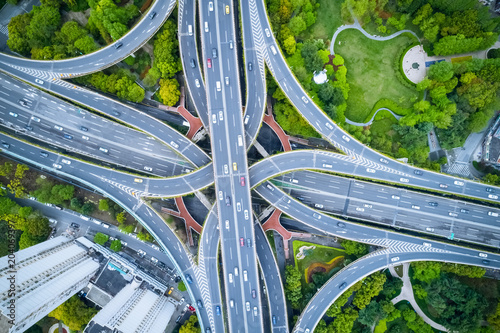 Fotografia aerial view of city interchange
