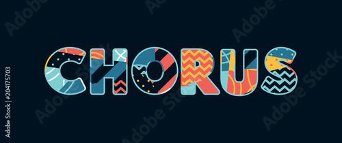 Canvas Chorus Concept Word Art Illustration
