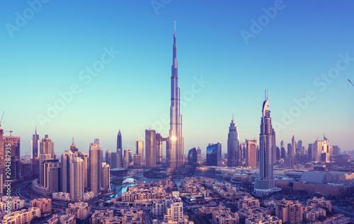 Fototapeta Dubai skyline, United Arab Emirates