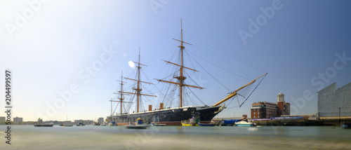 Canvas Print HMS Warrior (1862) - the first British ironclad battleship built for the Royal N