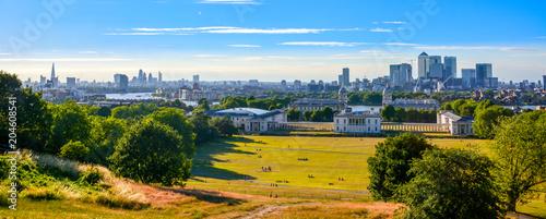 Fotografija Panorama Cityscape View from Greenwich, London, England, UK