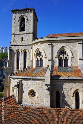 Photo The old church in Le Cannet, a town on the French Riviera close to Cannes in Alp