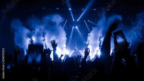 Obraz na płótnie Happy People Dance in Nightclub Party Concert