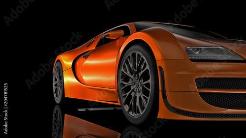 Fototapeta premium Super sportowy samochód w perspektywie