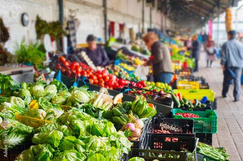 Photo Vegetable Bolhao market Porto, Portugal