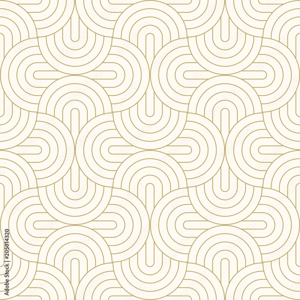 Fototapeta Deseniowy okrąg bezszwowego abstrakcjonistycznego