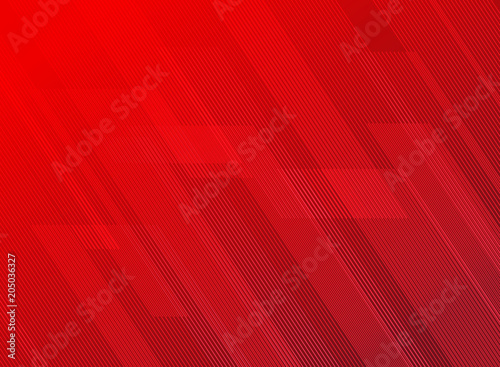 Fotografie, Tablou Abstract lines pattern technology on red gradients background.