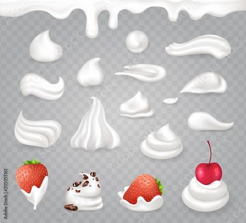 Fotografia, Obraz Whipped Cream with Sweet Fruits and Dark Chocolate
