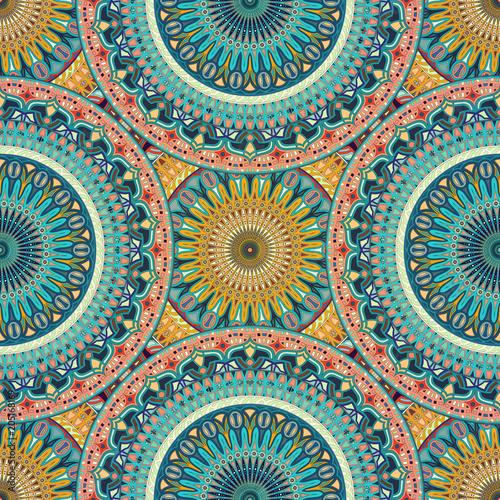 Fototapeta Seamless pattern mandala ornament