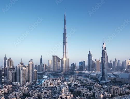 Dubai skyline, United Arab Emirates Fotobehang