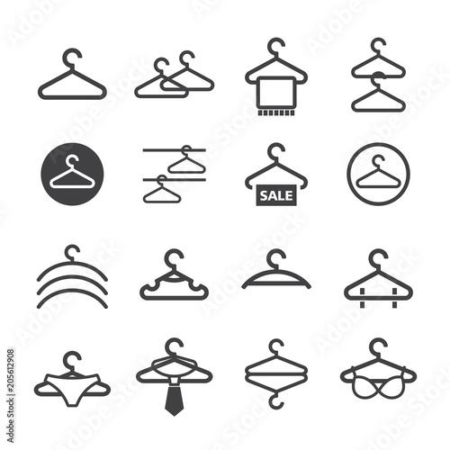 Clothes hanger icon set Fototapeta