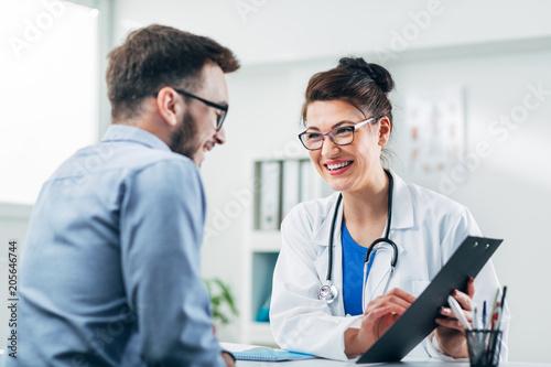 Obraz na plátně Doctor and patient