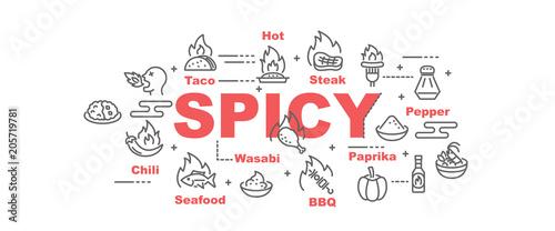 Photo spicy food vector banner