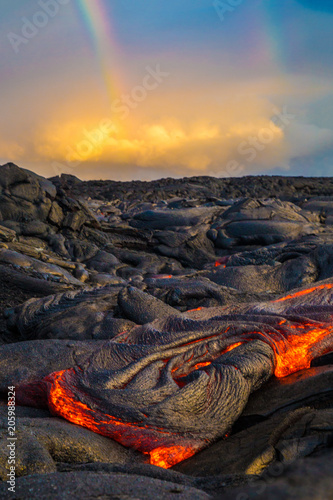 Hot lava on the Big Island of Hawaii Fototapete