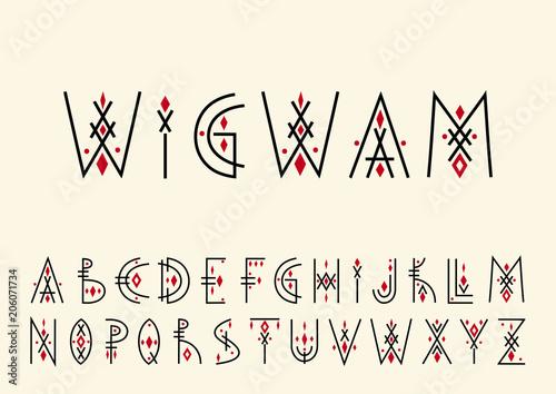 Obraz na płótnie Vector alphabet set