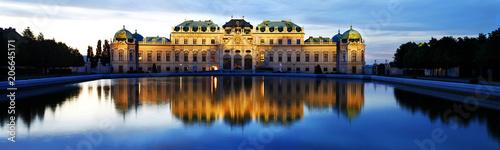 Canvas Print Belvedere Palace, Vienna, Austria