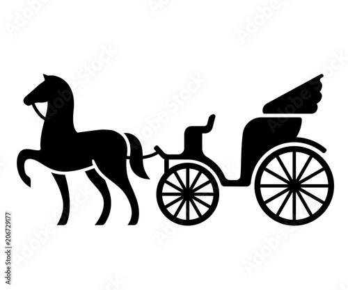 Cuadros en Lienzo Vintage horse drawn carriage