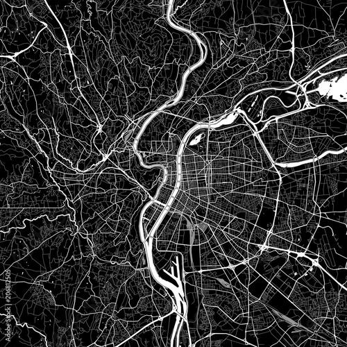 Area map of Lyon, France Fototapeta