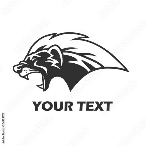 Fotografie, Tablou Honey Badger Mascot Logo Template