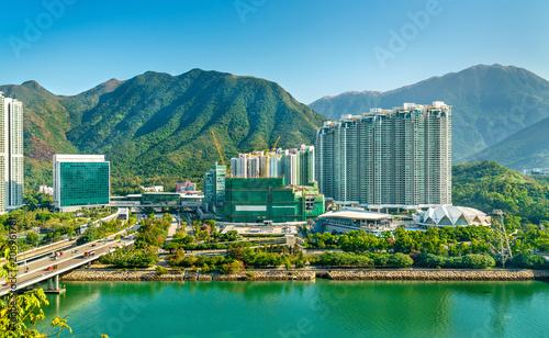 View of Tung Chung district of Hong Kong on Lantau Island