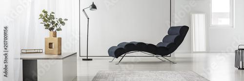 Fotografija Chaise lounge in white interior