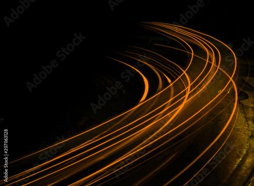 Wallpaper Mural Long exposure at night orange streaks