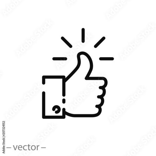 Valokuvatapetti like sign, line icon - vector illustration eps10