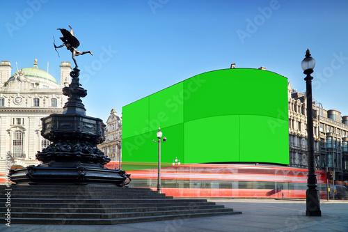 Платно London, Piccadilly Circus with green screen displays.