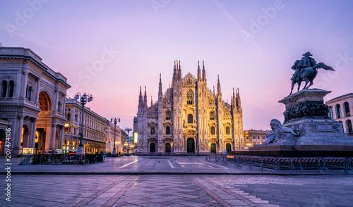 Obraz na plátně Duomo di Milano (Milan Cathedral) in Milan, Italy