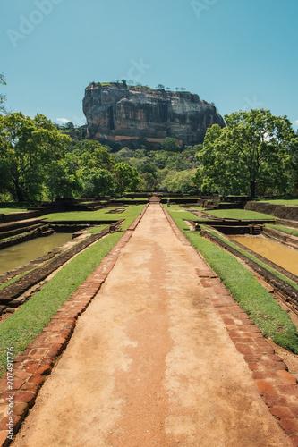 Canvas Print Gardens of Lions Rock, Sigiriya, Sri Lanka