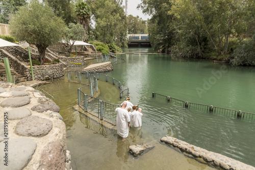 Fotografija Yardenit, Israel- May 6, 2018 : Yardenit baptism site on a Jordan River in Israel