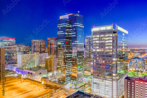 Phoenix, Arizona, USA Cityscape Tapéta, Fotótapéta