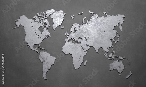 Naklejki na meble Mapa świata