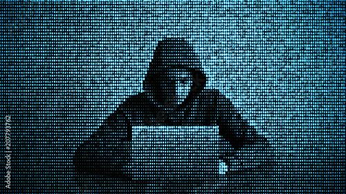 Fotografia Hacker in data security concept