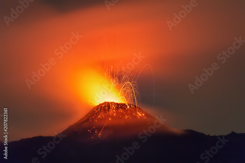 El Volcán Pacaya, Guatemala, Mayo 2018