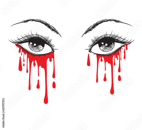 Photo Vector beautiful illustration with crying eyes
