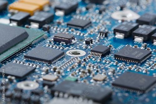 Circuit board closeup