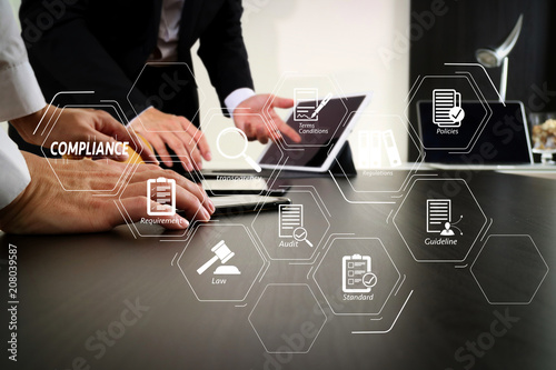 co working team meeting concept,businessman using smart phone and digital tablet and laptop computer in modern office