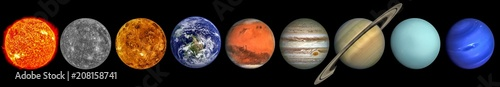 Fotografija The solar system